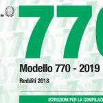 Modello 770/2019: scadenza e istruzioni